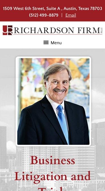 Responsive Mobile Attorney Website for James M. Richardson