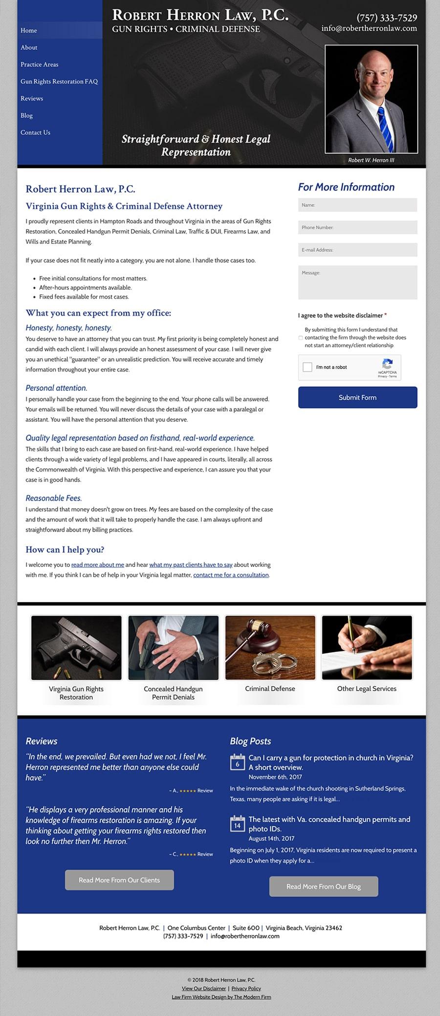 Law Firm Website Design for Robert Herron Law, P.C.