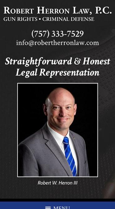 Responsive Mobile Attorney Website for Robert Herron Law, P.C.