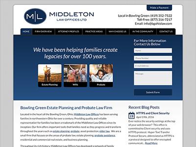 Law Firm Website design for Middleton Law Offices, Lt…