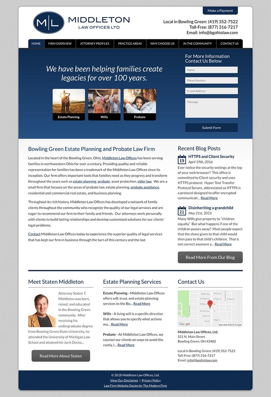 Law Firm Website Design for Middleton Law Offices, Ltd.