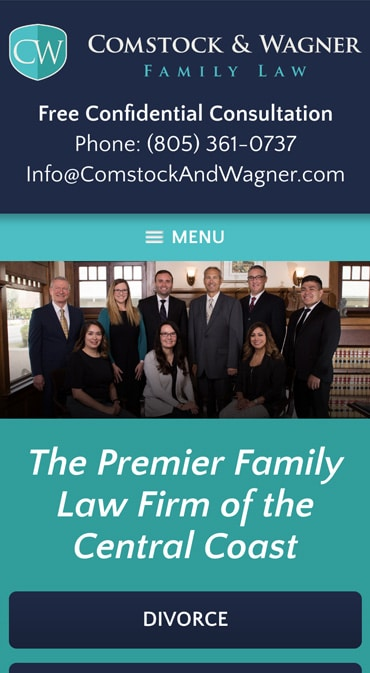 Responsive Mobile Attorney Website for Comstock & Wagner