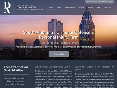 Website Design for The Law Offices of David…