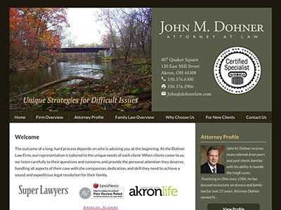 Law Firm Website design for The Dohner Law Firm