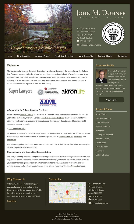 Law Firm Website Design for John M. Dohner