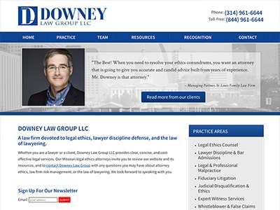 Law Firm Website design for Downey Law Group LLC