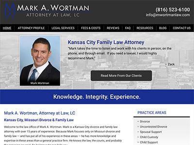 Law Firm Website design for Mark A. Wortman, Attorney…
