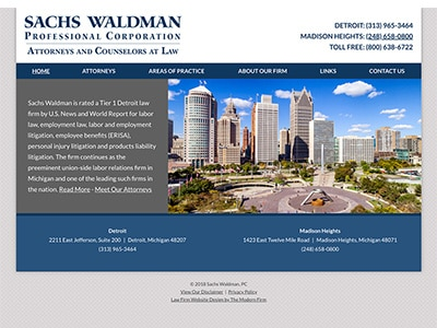 Law Firm Website design for Sachs Waldman, P.C.