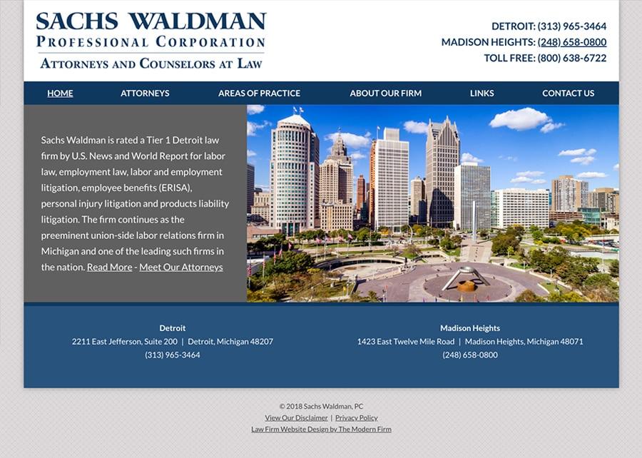 Law Firm Website Design for Sachs Waldman, P.C.
