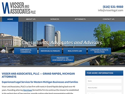 Law Firm Website design for Visser and Associates, PL…