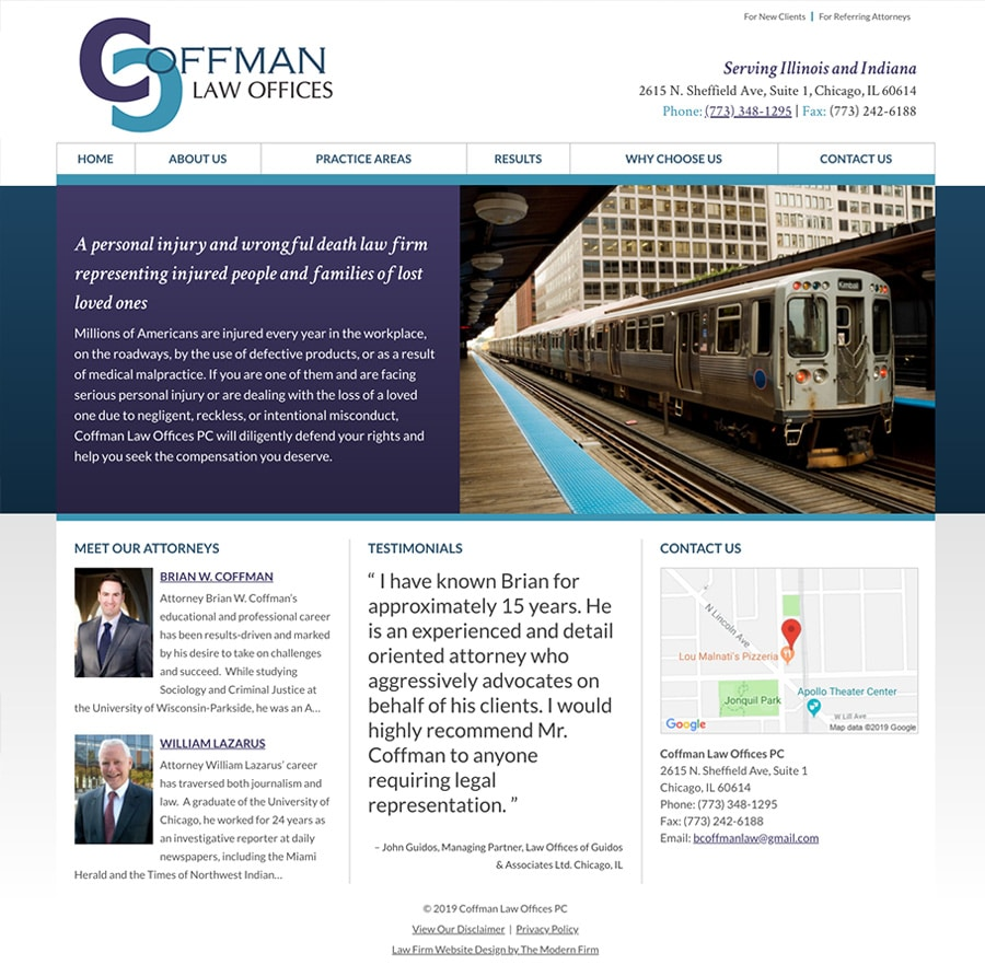 Law Firm Website for Coffman Law Offices