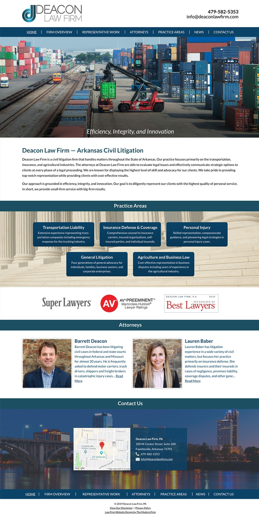 Law Firm Website Design for Deacon Law Firm, PA