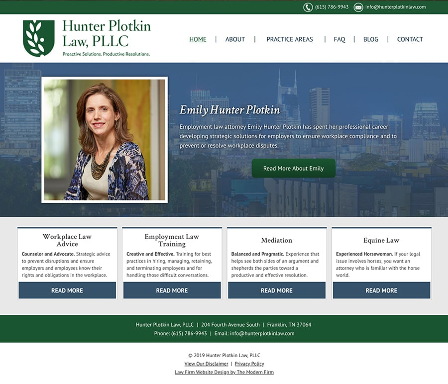 Law Firm Website Design for Hunter Plotkin Law, PLLC