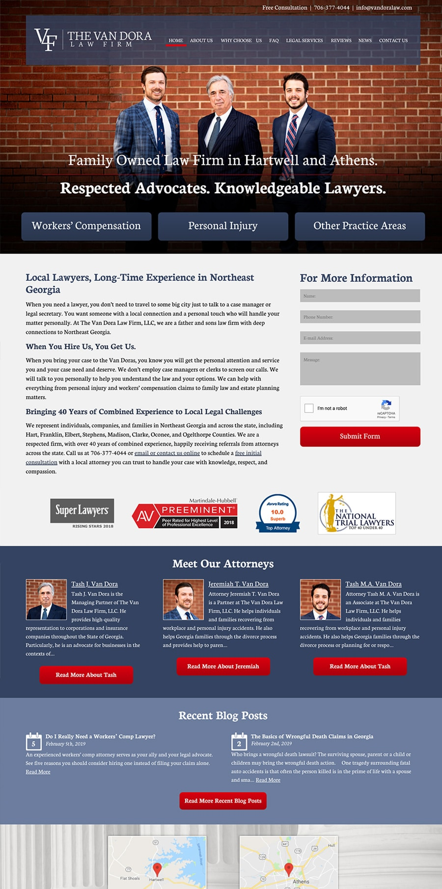 Law Firm Website for The Van Dora Law Firm