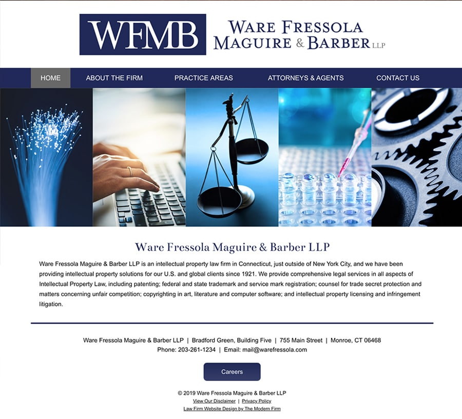 Law Firm Website Design for Ware Fressola Maguire & Barber LLP