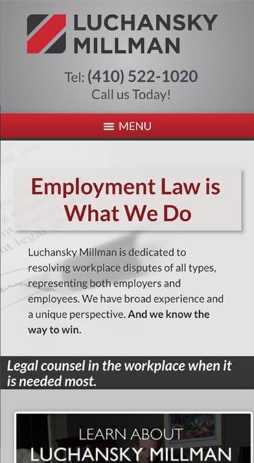 Responsive Mobile Attorney Website for Luchansky Millman