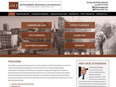 Law Firm Website design for Alexandrov, Metzger & Fla…