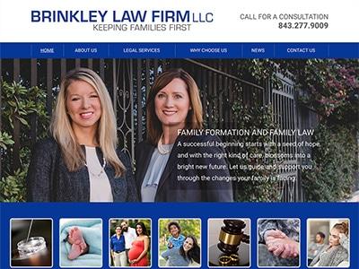 Law Firm Website design for Brinkley Law Firm LLC