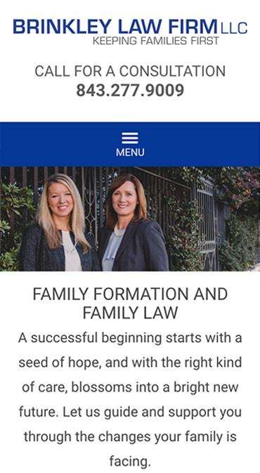 Responsive Mobile Attorney Website for Brinkley Law Firm LLC