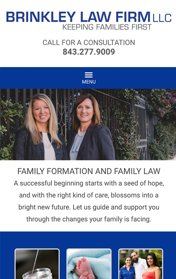 Mobile Friendly Law Firm Webiste for Brinkley Law Firm LLC