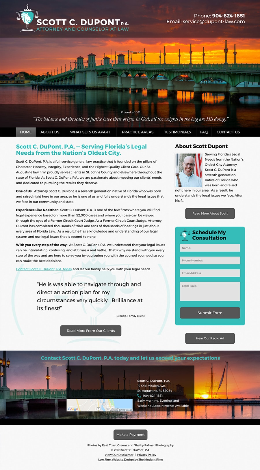 Law Firm Website Design for Scott C. DuPont, P.A.