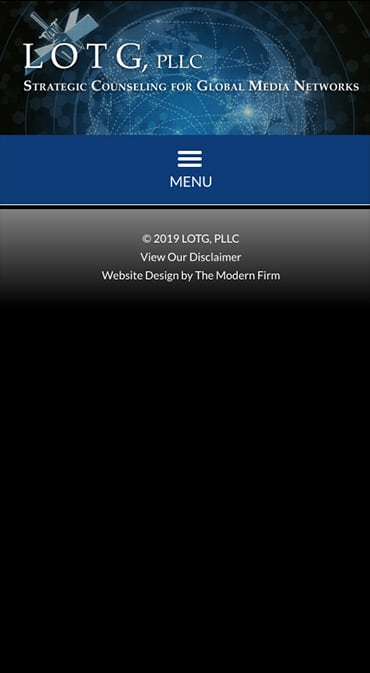 Responsive Mobile Attorney Website for LOTG, PLLC