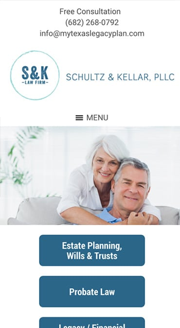 Responsive Mobile Attorney Website for Schultz and Kellar, PLLC