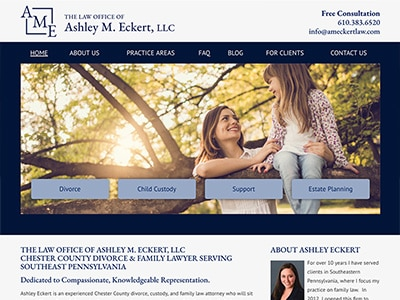 Law Firm Website design for The Law Office of Ashley…