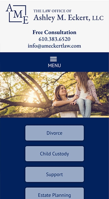 Responsive Mobile Attorney Website for The Law Office of Ashley M. Eckert, LLC