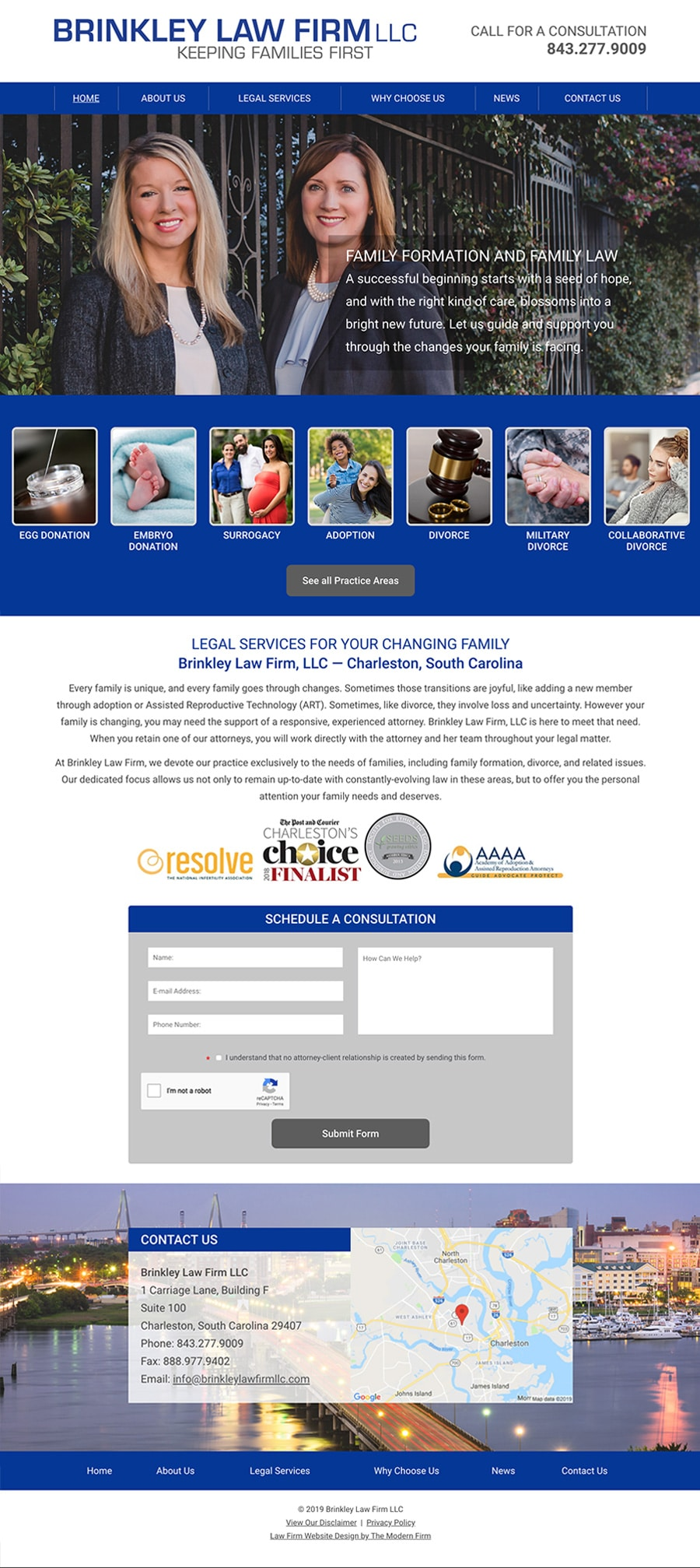 Law Firm Website Design for Brinkley Law Firm LLC