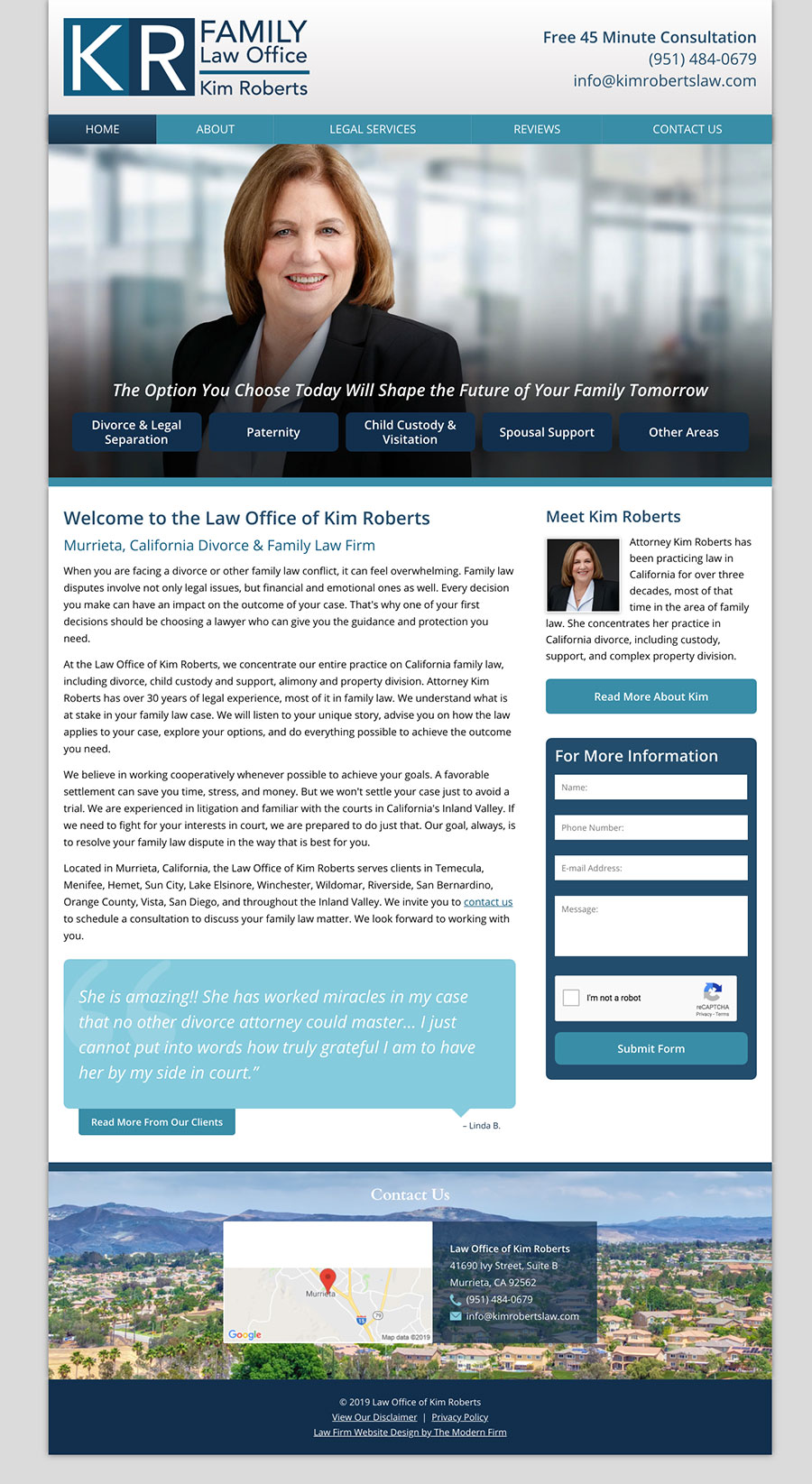 Law Firm Website for Law Office of Kim Roberts