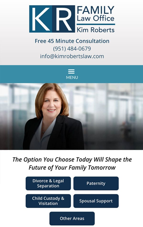 Mobile Friendly Law Firm Webiste for Law Office of Kim Roberts