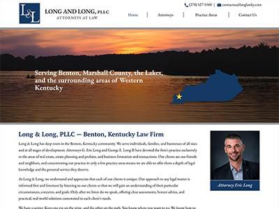 Law Firm Website design for Long & Long PLLC