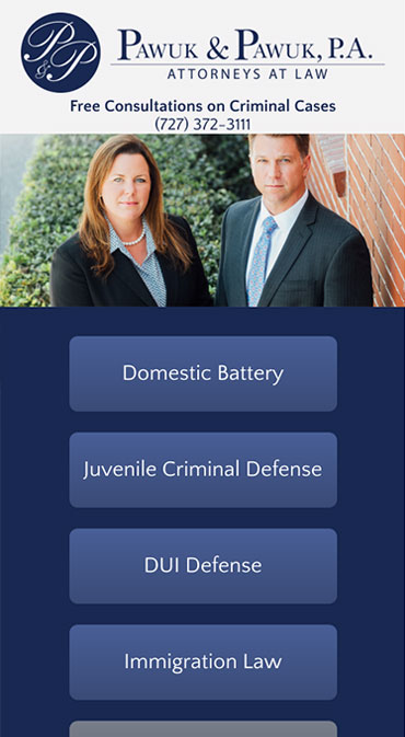 Responsive Mobile Attorney Website for Law Offices of Pawuk & Pawuk