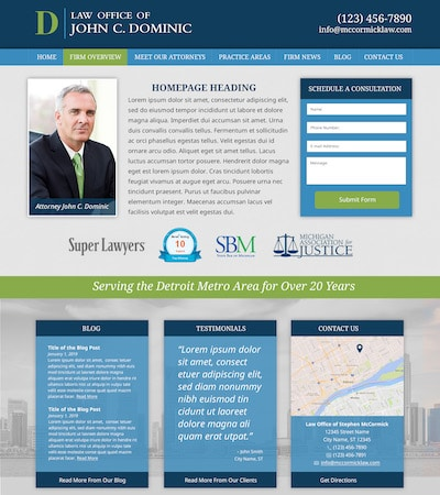 Law firm wbsite design concept Layout #114