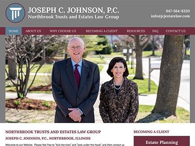 Law Firm Website design for Joseph C. Johnson, P.C.