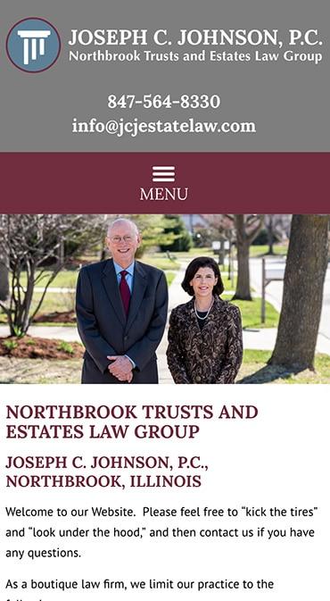 Responsive Mobile Attorney Website for Joseph C. Johnson, P.C.