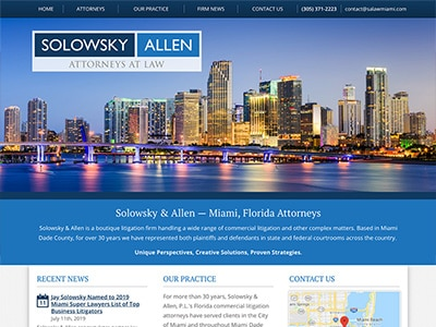 Law Firm Website design for Solowsky & Allen, P.L.
