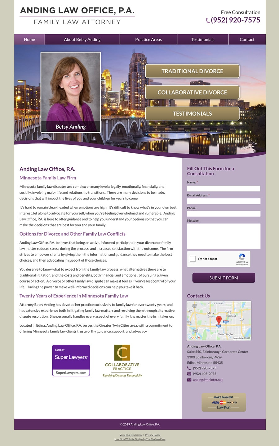 Law Firm Website Design for Anding Law Office, P.A.