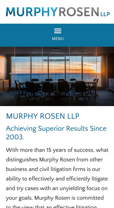 Responsive Mobile Attorney Website for Murphy Rosen LLP