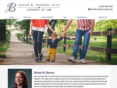 Law Firm Website design for Raven M. Barron, PLLC