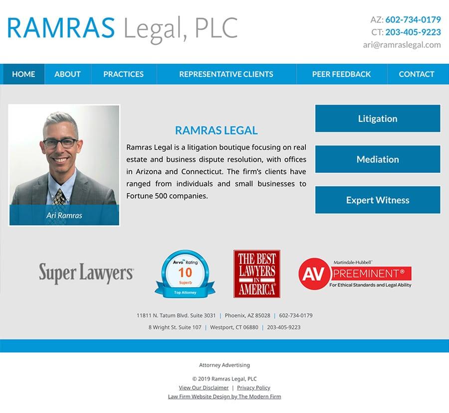 Law Firm Website Design for Ramras Legal, PLC