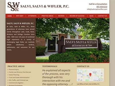 Law Firm Website design for Law Offices of Salvi, Sal…