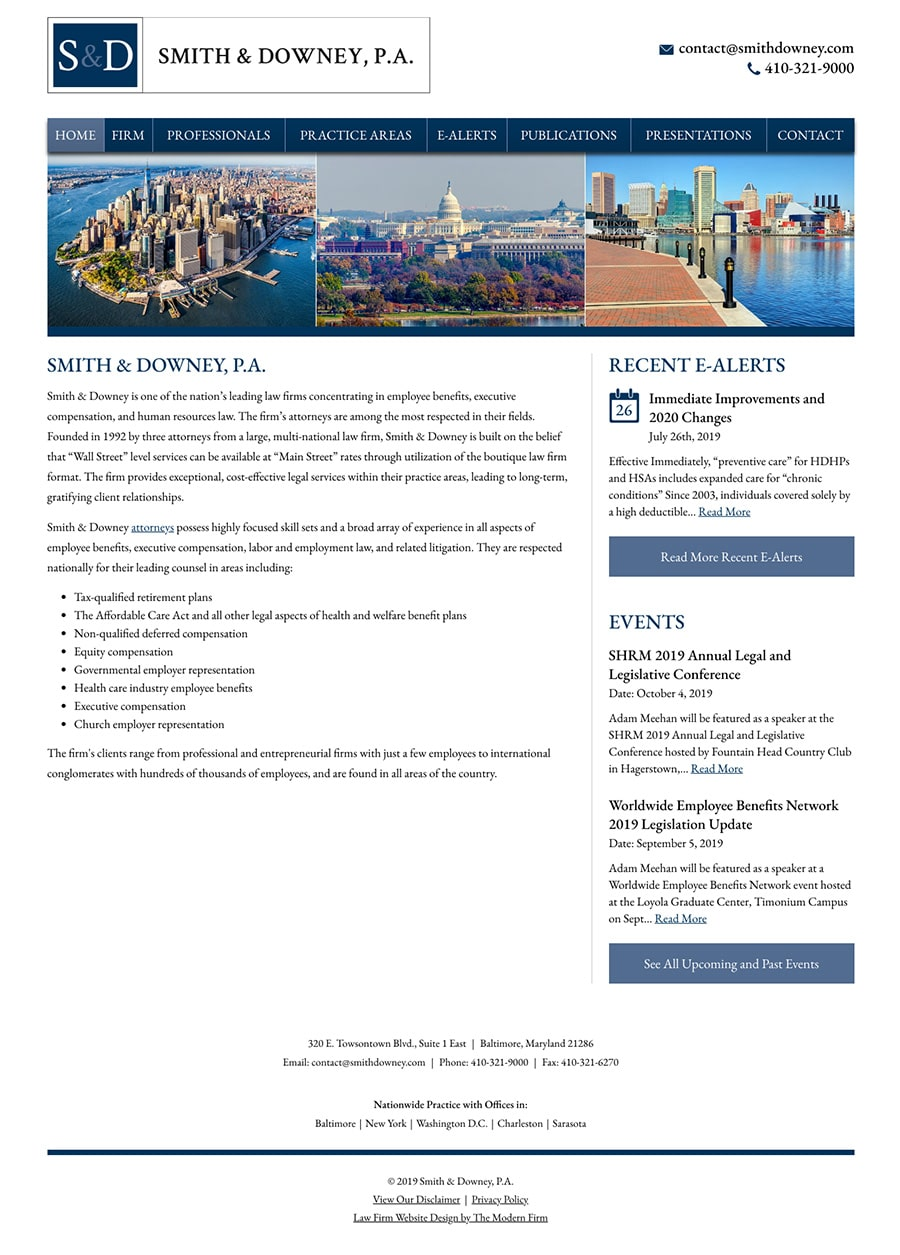Law Firm Website Design for Smith & Downey, P.A.