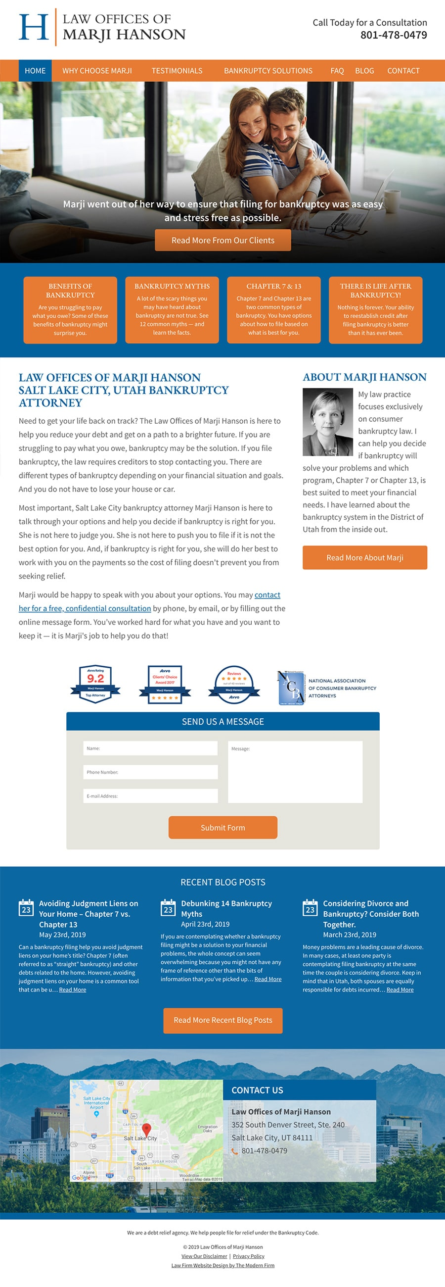 Law Firm Website Design for Law Offices of Marji Hanson
