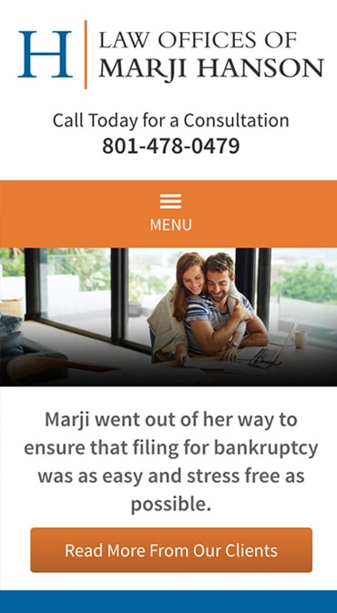 Responsive Mobile Attorney Website for Law Offices of Marji Hanson