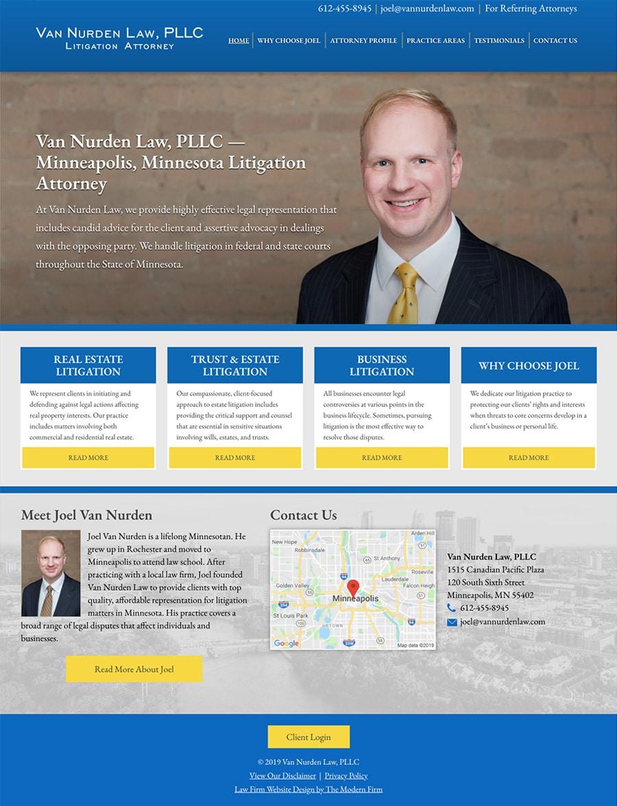 Law Firm Website Design for Van Nurden Law, PLLC