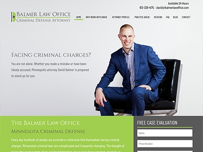 Law Firm Website design for Balmer Law Office, PLLC