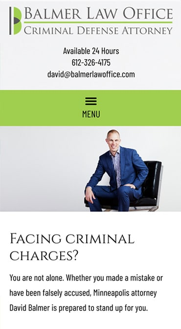 Responsive Mobile Attorney Website for Balmer Law Office, PLLC