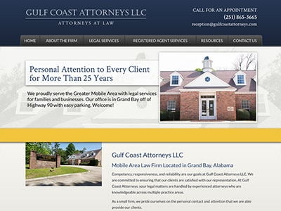 Law Firm Website design for Gulf Coast Attorneys LLC